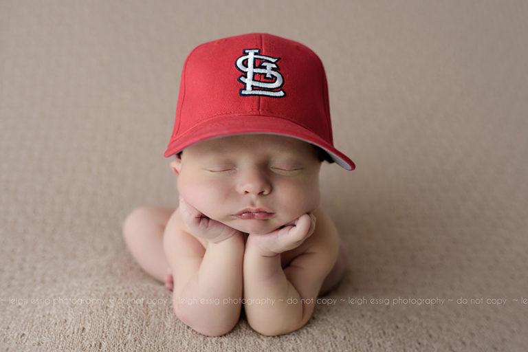 Newborn Ethan Rocks His St. Louis Cardinals Hat!