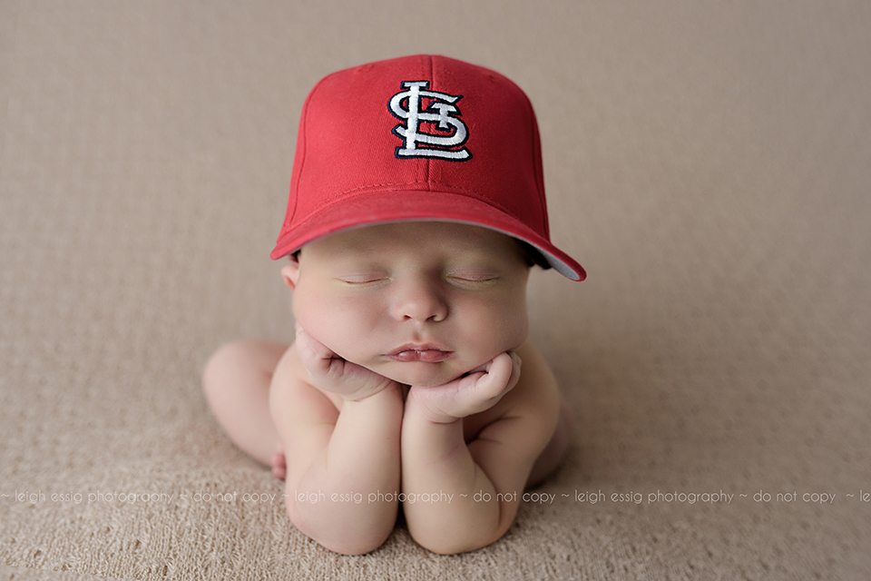 Newborn Ethan Rocks His St. Louis Cardinals Hat!