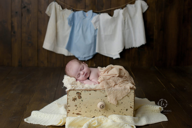 Ethan's Newborn Session – A Baby in a Drawer